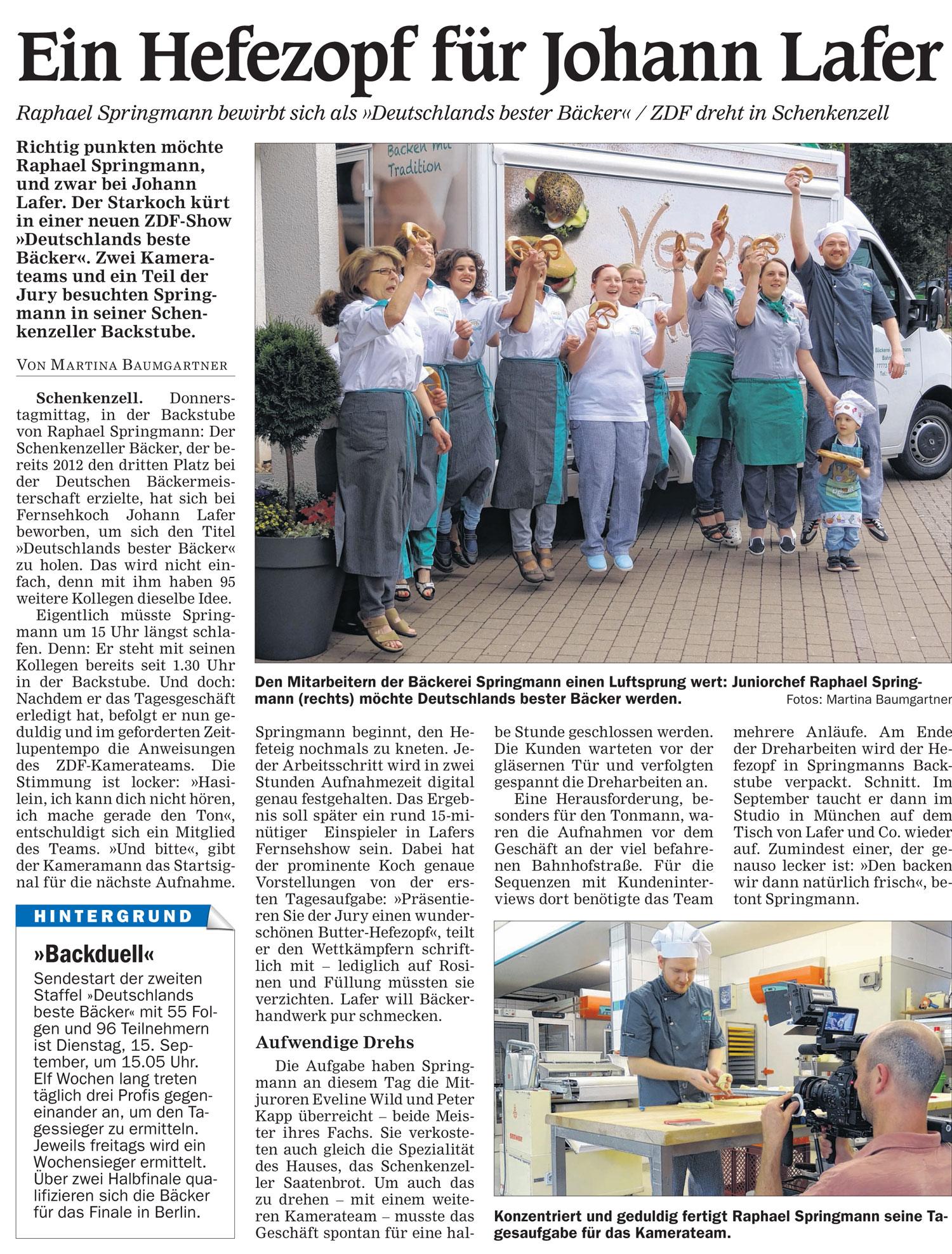 bester bäcker deutschlands